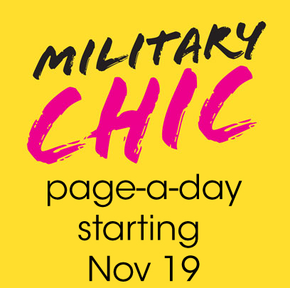 LIKED THE DEVIL WEARS PRADA? - Then you'll LOVE Military Chic!On Monday, November 19, 2019, I'm going to challenge convention and take a new media approach to book publishing by posting Military Chic a page a day (for free!) right here and also on Facebook, Twitter and Instagram at @GigiLaFaux.If you can't wait 261 days and wants to binge-read, the book will also be available for purchase in paperback ($17.95 US) and ebook ($3.99 US) on demand (link to come soon!).Keep watching here for your daily fix of high fashion drama.
