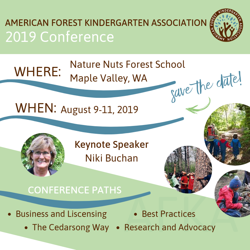 AFKA 2019 Conference will be held at The Nature Nuts School in Maple Valley, WA_ August 2019 -Friday, August 9th -Saturday August 10th -Sunday August 11th Highlights -Keynote Niki Buchan -Board member and other prese (5).png