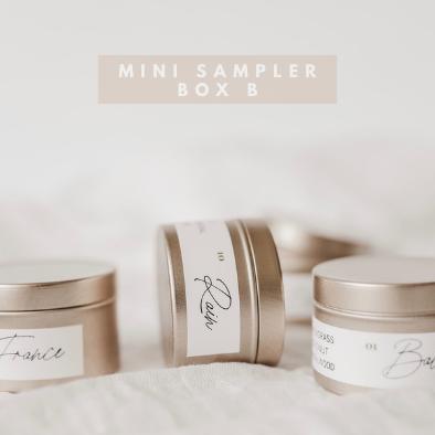 (B) Choose 5 Mini Candle Sampler Box  kynd co.