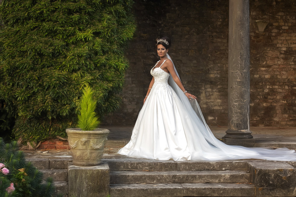 amazing wedding dress on a beautiful irish bride