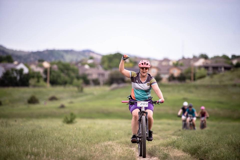 Me racing and feeling strong at the Beti Bike Bash!