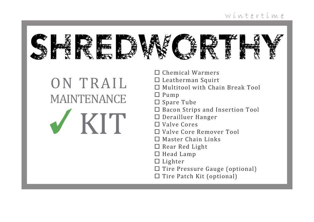 Winter riding trail maintenance kit