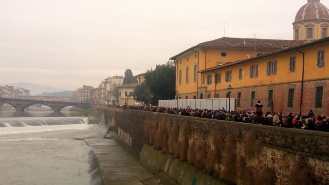 Photograph of Florence's Protest March. March 5, 2018. Credit: Silvia D'Amato.