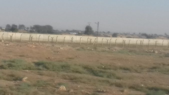 Turkey-Syria border, border wall, photo taken in Ceylanpınar by the author on 22 July 2018.