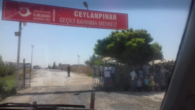 Entrance of Ceylanpınar tent camp. Photo taken in Ceylanpınar by the author on 23 July 2018.