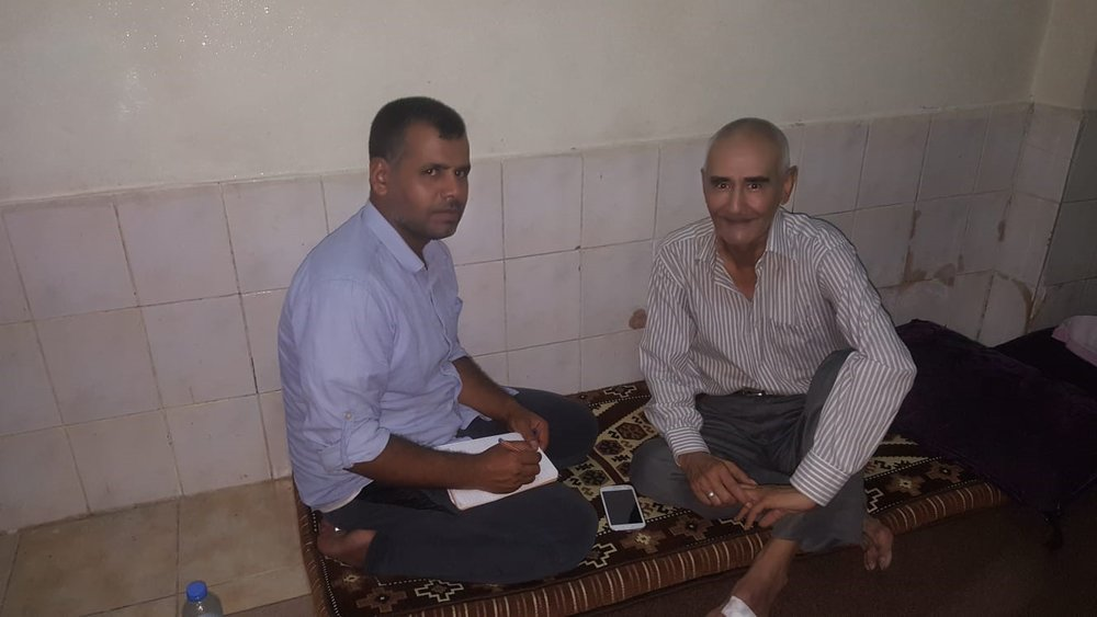 This photo has been recently taken to inform Mr. Al Taha about publishing his interview on RESPOND's blog. He wants us to share it with his daughter who lives in Germany as a refugee.
