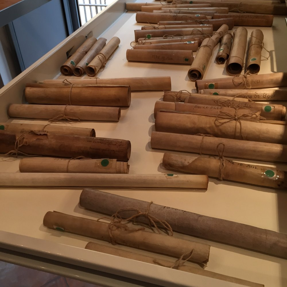 Parchment Restoration - 450 parchment scrolls dating from 1280 to 1971 are undergoing a delicate process of restoration.