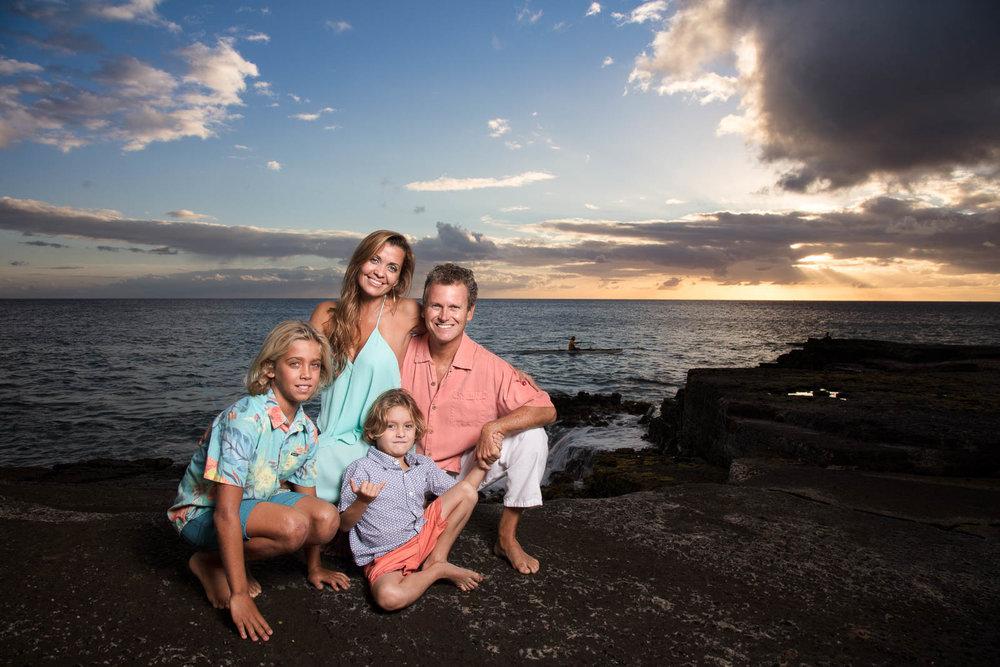 oahu family sunset portrait photography
