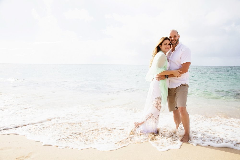 oahu couples romantic beach engagement portrait photographer