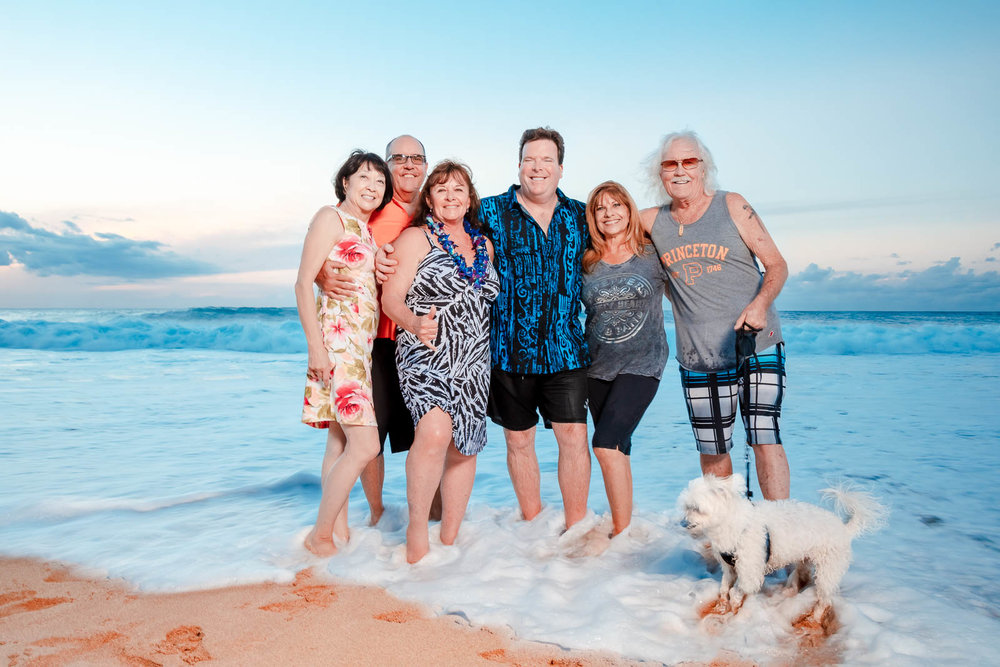 family sunset beach north shore photography session