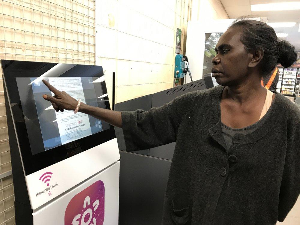 Daphne Daniels, Editor of the Ngukurr News
