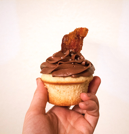 Enjoy the sweet salty taste of maple bacon cupcakes