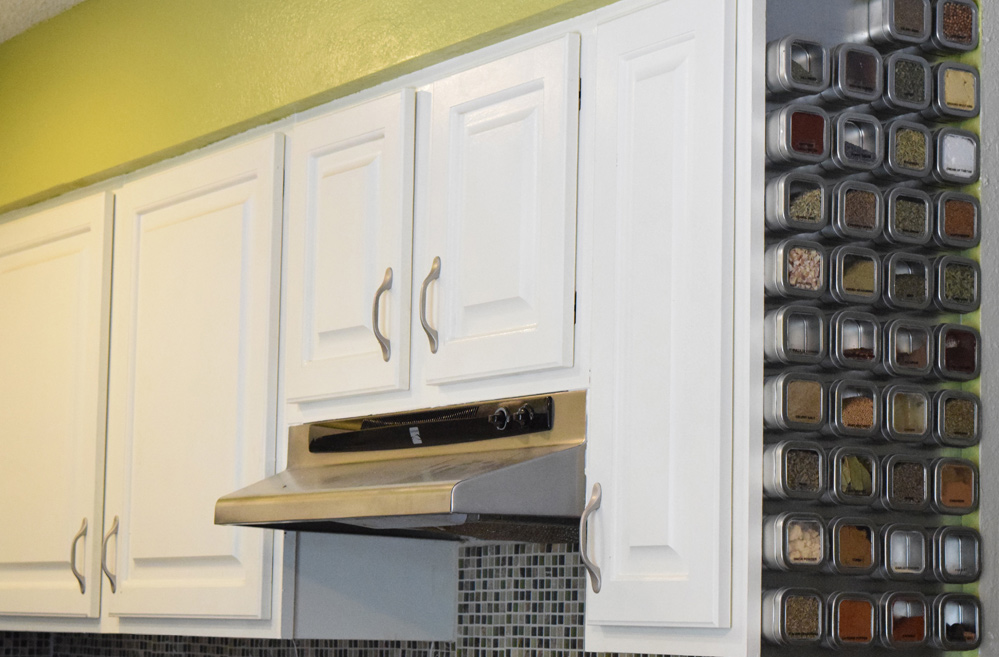 Magnetic Spice Rack looks great in any kitchen
