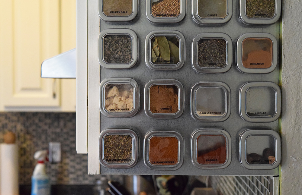 display your spices in an easy to reach way