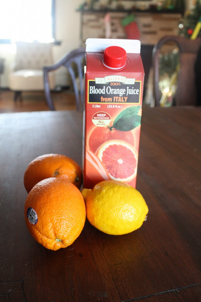 Blood Orange juice from a bottle is an easy way to make this sorbet recipe