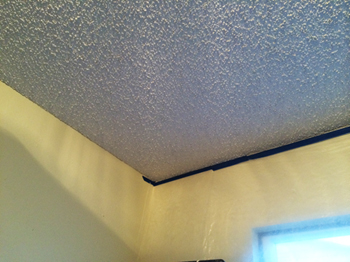 Popcorn ceilings are dated and unattractive