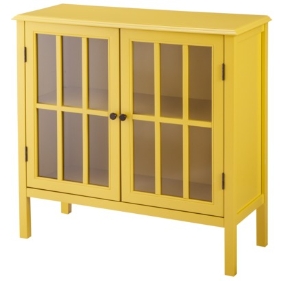 yellow wall cabinet from Target