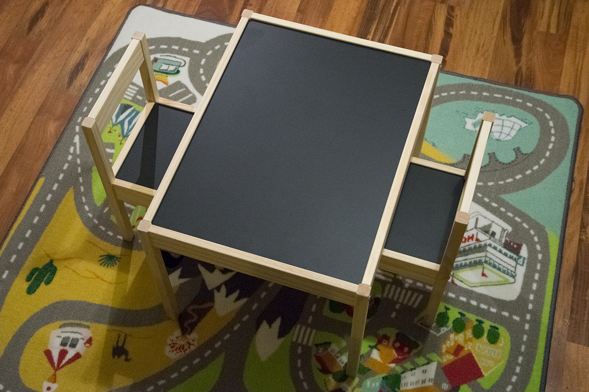 A hack for an ikea child's play table