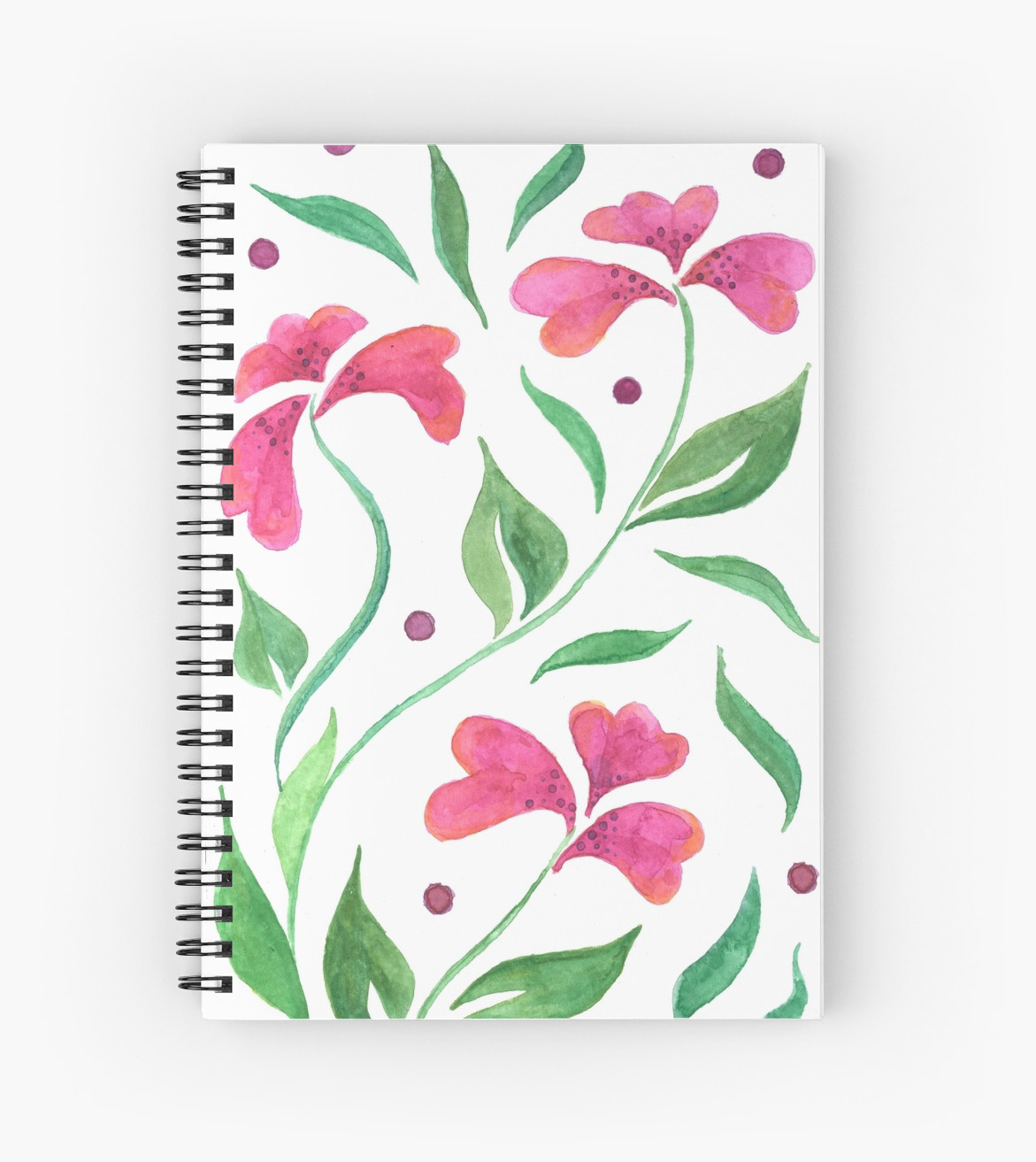 Sprial notebooks and other stationary available at redbubble