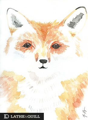 using negative space create a soft colored watercolor