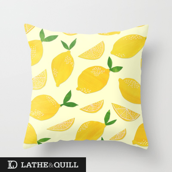 fresh citrus pillows look great outsoors on summer lawn chairs