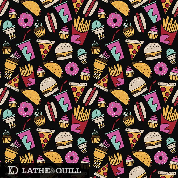 Fries + Pizza + Burgers + Tacos + Cuapcakes + Ice Cream + Soda + Tacos