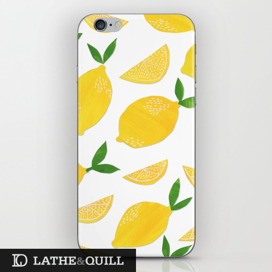 lemon pattern on iphone cover
