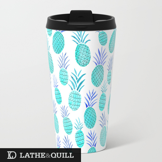Bright Cyan Pineapples