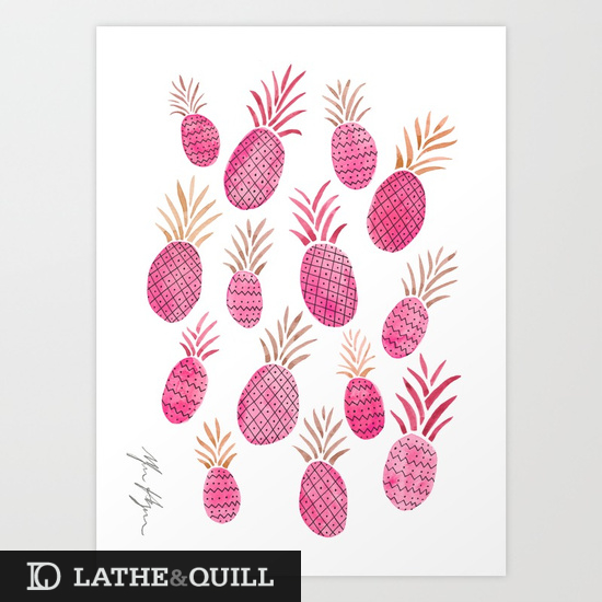 Cute and fun brightly covered pineapples