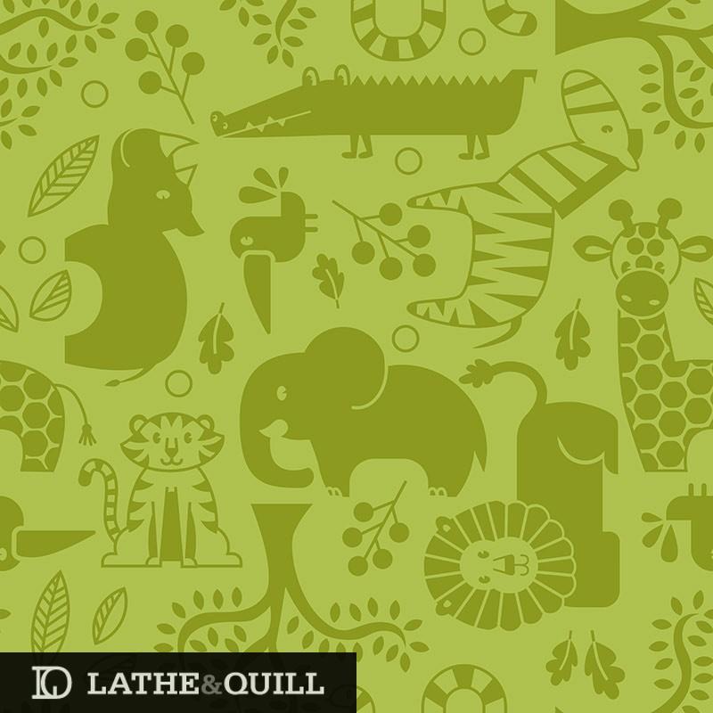 Cute rhino, elephant, lion, giraffe, zebra, bird, tree, tiger, alligator