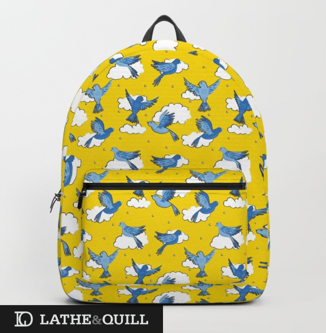 Boobkags from Society6 with illustrated pattern of birds