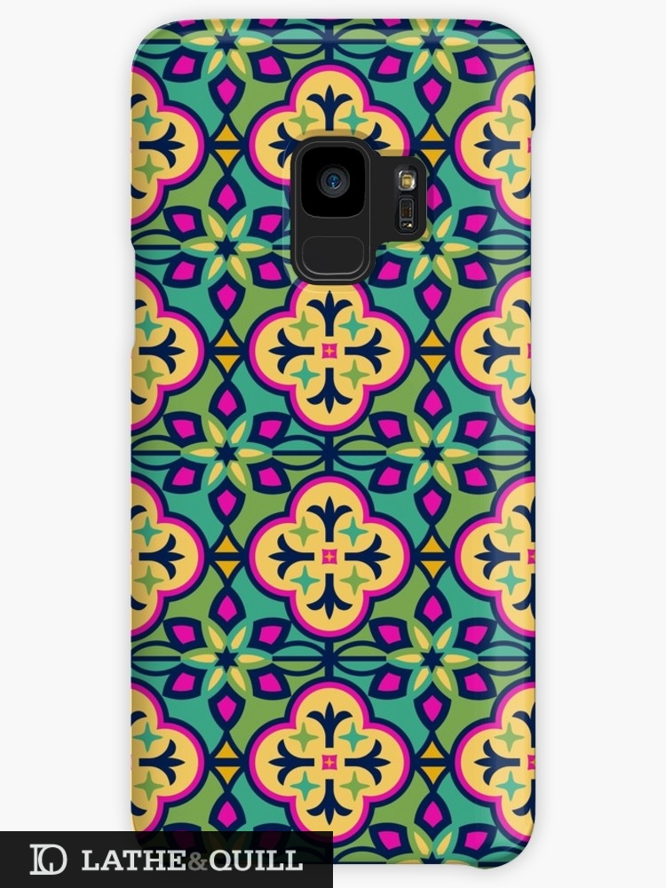 vibrant pattern phone case inspired by Morocco