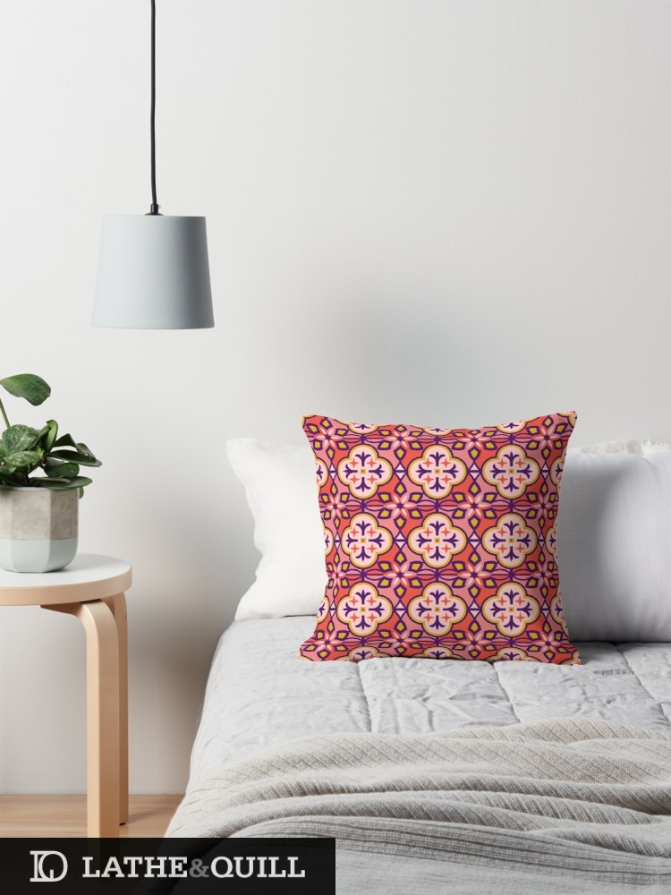 pink pattern inspired by Marrakesh Tiles