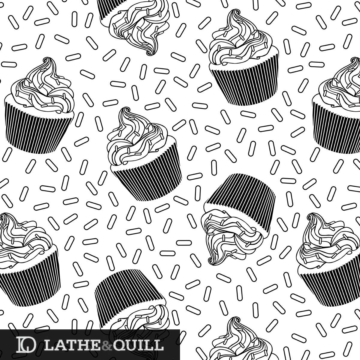 Pattern of Cupcakes and Sprinkles