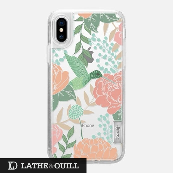 Casetify has cute clear cases featuring floral garden