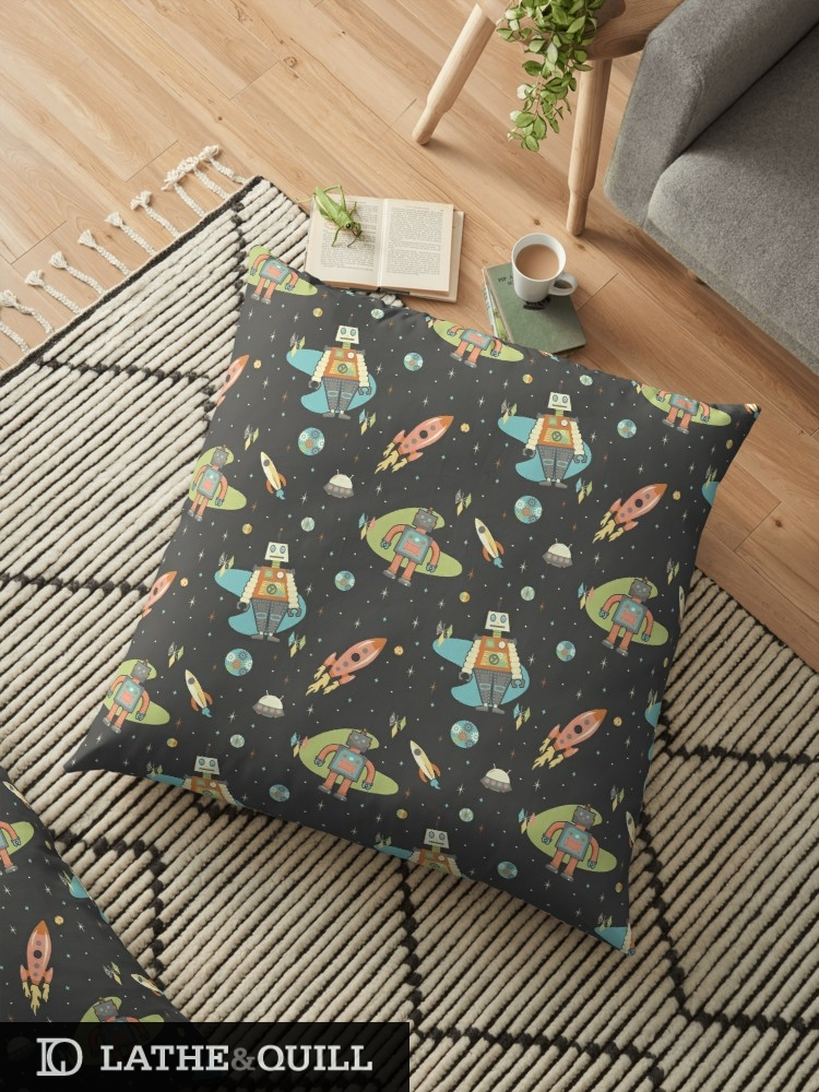pattern available in home decor, clothing, and tech