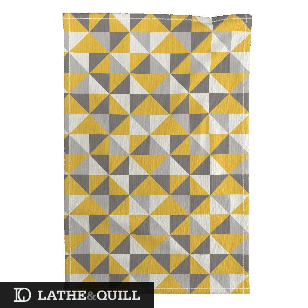 Spoonflower and Roostery Home decor options in modern graphic pattern