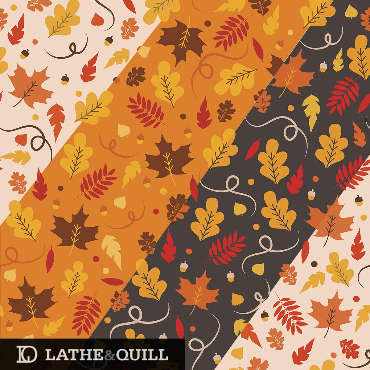 Autumn leaves on maple, oak, locust, and ginkgo