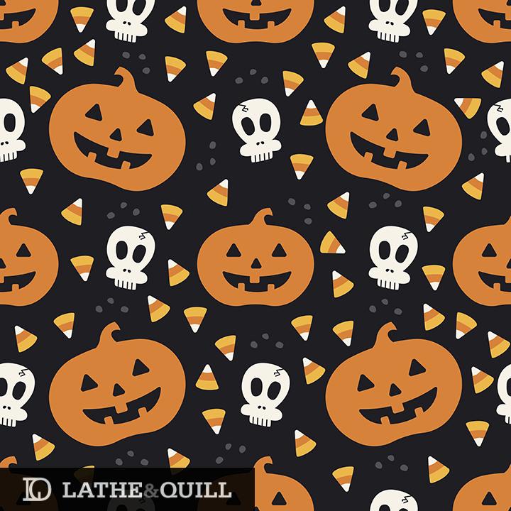 adorable jack o lanterns, skulls, and candy corn