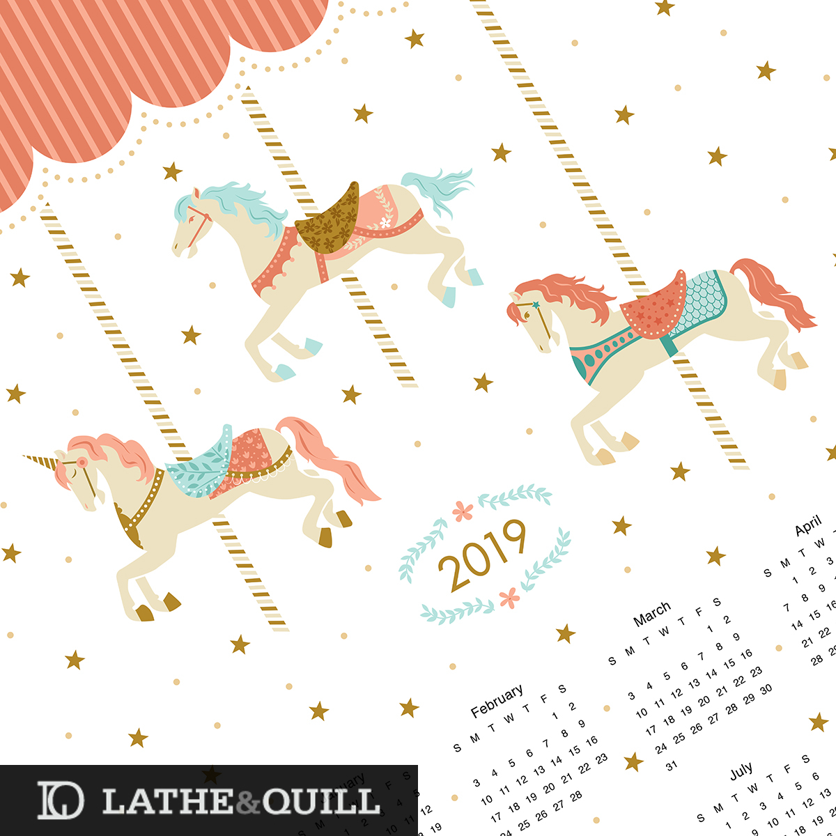 horse and unicorn vector drawings very cute