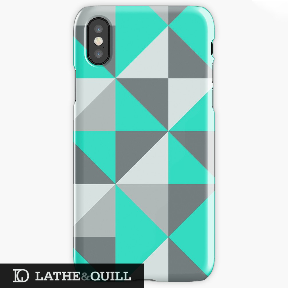 Fun modern pattern on a custom phonecase