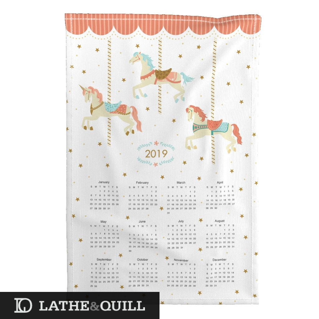 tea towel calendar from Spoonflower