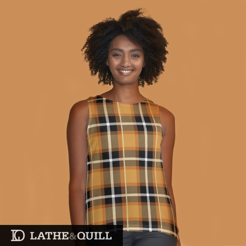 Pattern for fall with orange and black stripes in a flannel coloring