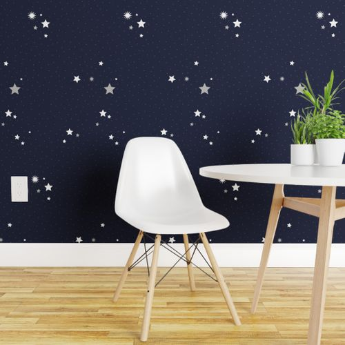 Sweet gender neutral star pattern perfect for wallpaper, gift wrap, and fabric.