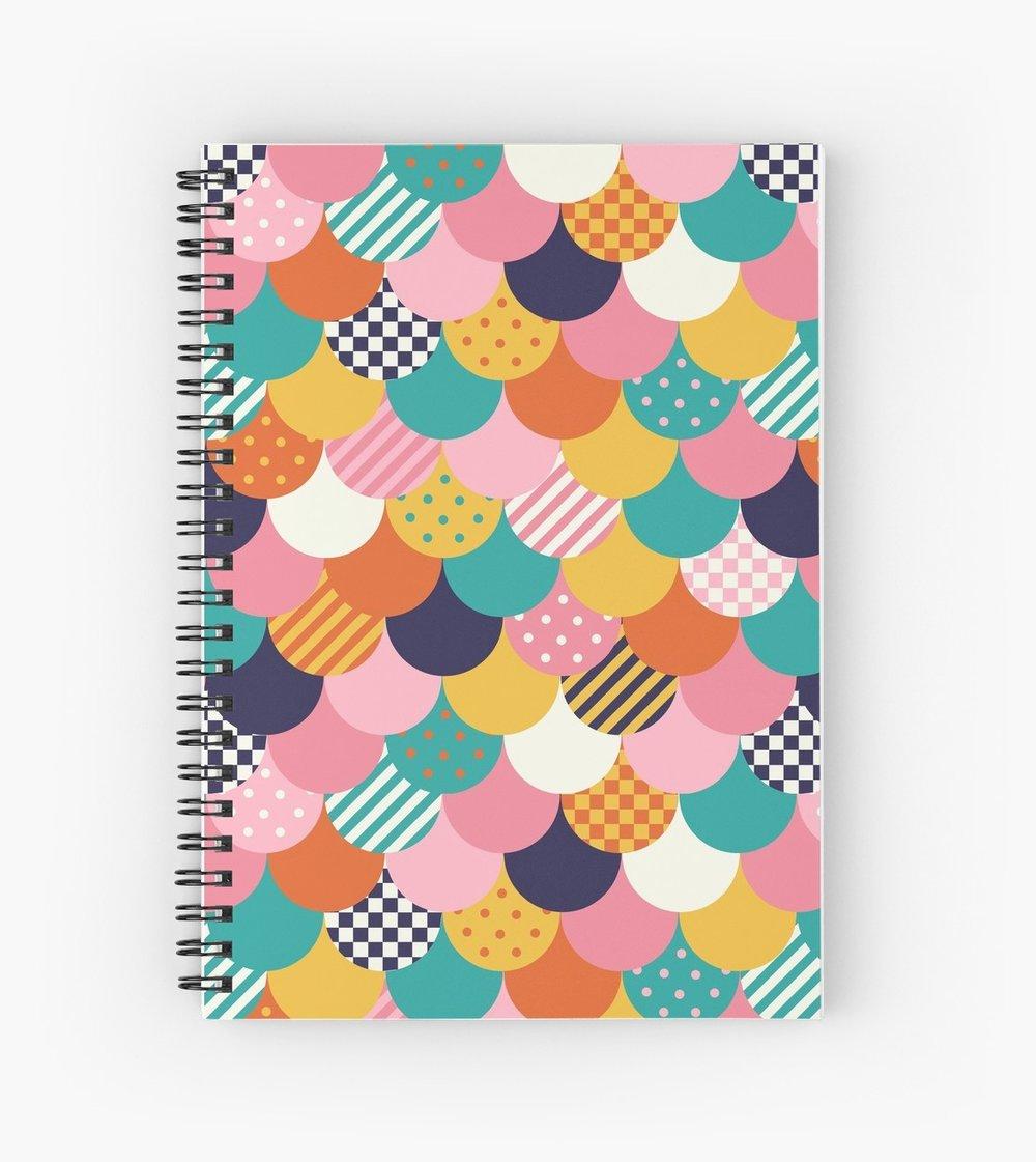 Cute modern scallop pattern book fun animal print