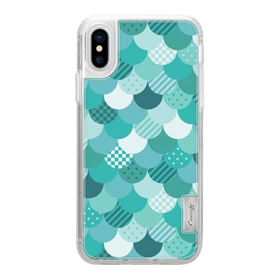 dress your tech in modern style with aqua and teal fish scales