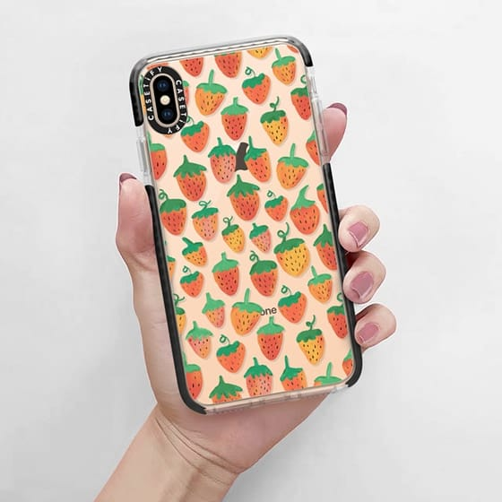Spring berry in digital pastel design is fun way to dress up your phone