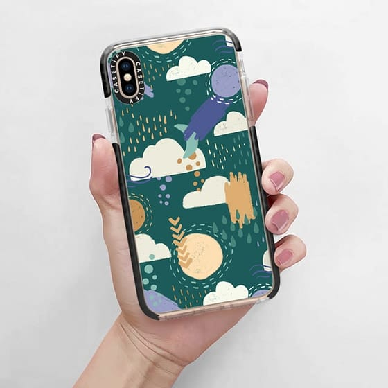 New year, new you, new phone case. Celebrate your changing look with this new phone case with teal, blue and gold colors