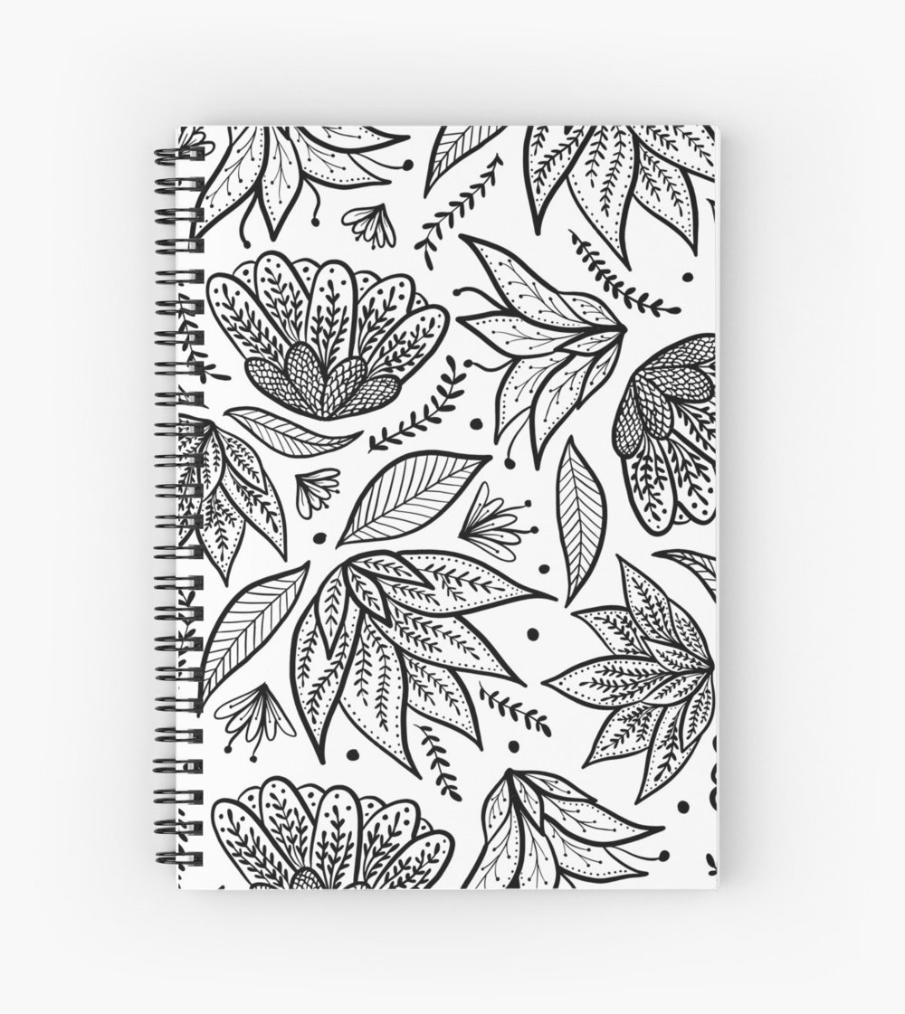Bullet journal, sketchbook, creative writing, school notes it can all go into this ruled or unruled book from redbubble
