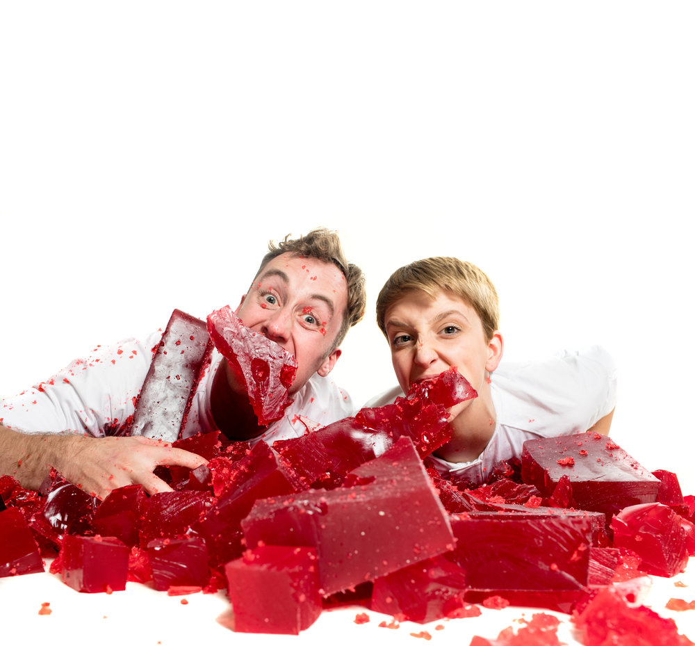 """""""G-rated jelly wrestling."""" - – Parent"""